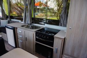 Hattie's sleek kitchen