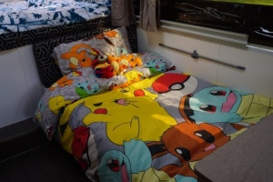 Dinette converted to child's bed