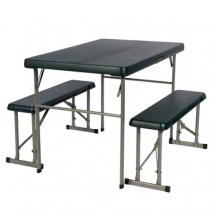 camping accessories, outdoor table and bench