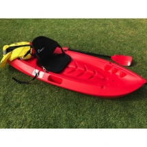 camping accessories, Red kayak