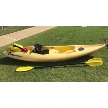 camping accessories, Yellow kayak